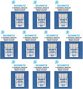 50 Schmetz Universal Sewing Machine Needles - size90/14 - Box of 10 cards