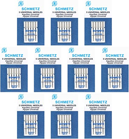 size/90//14 50 Schmetz Universal Sewing Machine Needles Box of 10 cards