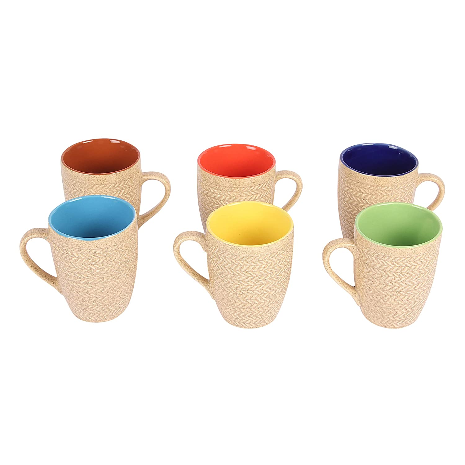 Ceramic Coffee Mugs – 6 Pieces