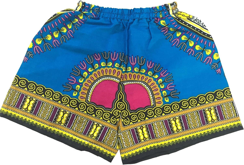 Lofbaz Boys Dashiki Print Elastic Waist Shorts