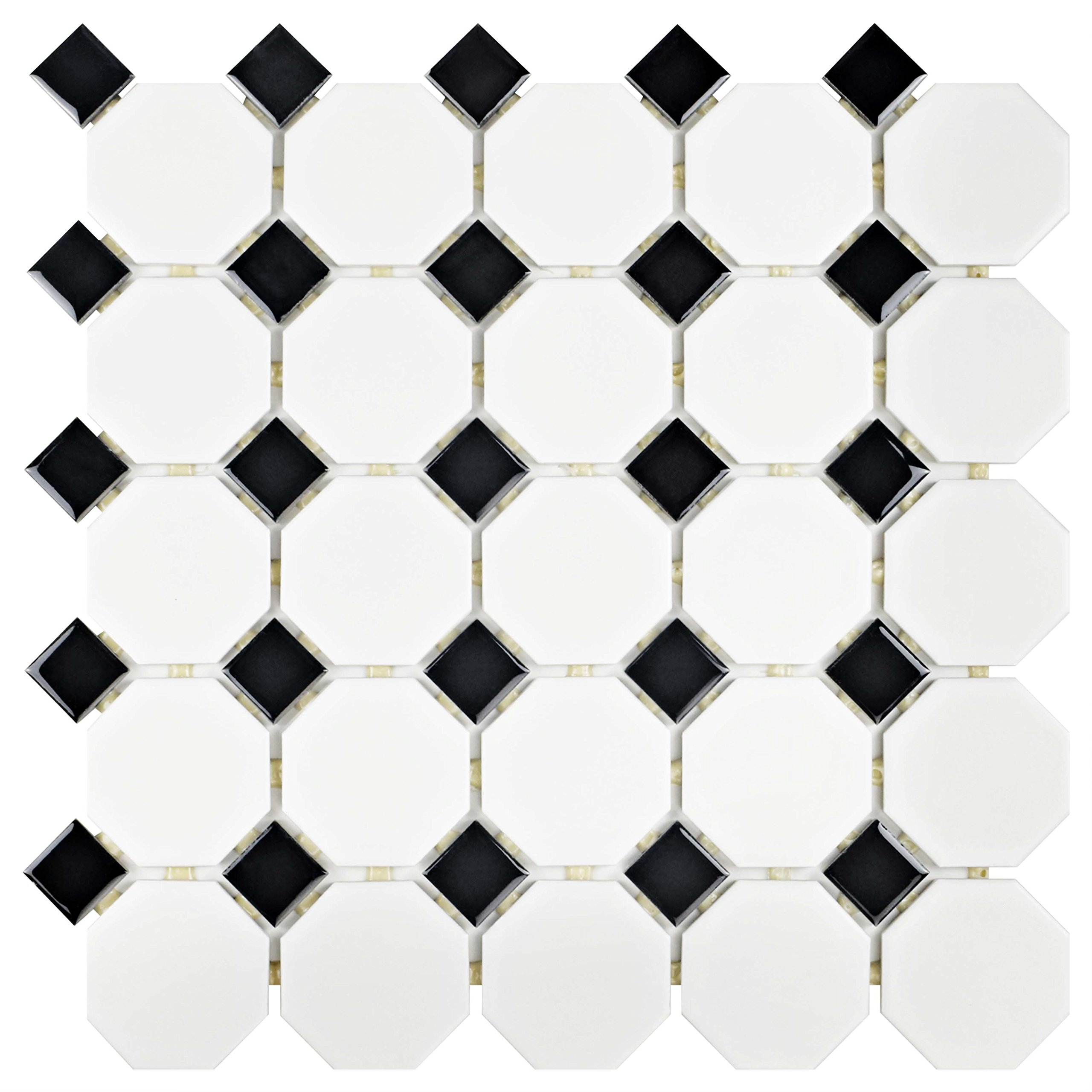 Black And White Floor Tiles Amazon Com