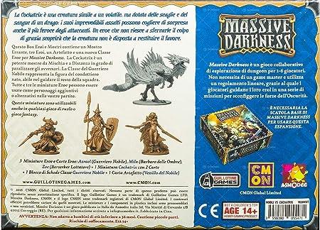 Asmodee Italia Massive Darkness Guerrieri Nobili VS Cockatrix expansión Juego de Mesa, Color, 10104: Amazon.es: Juguetes y juegos