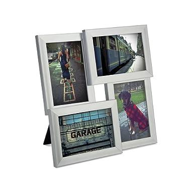 Umbra Pane, Multi 4x6 Picture Frame Collage for Desktop, Nickel