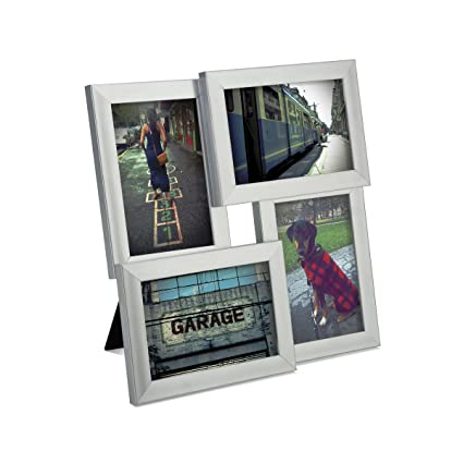 Amazon.com - Umbra Pane 4-Opening Desktop Collage Frame, 4x6, Nickel ...
