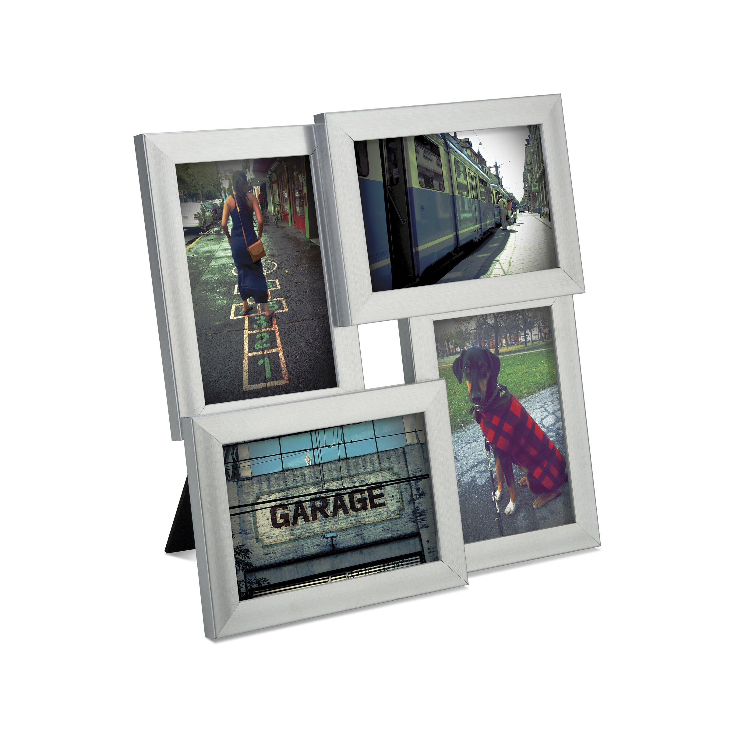 Umbra Pane 4-Opening Desktop Collage Frame, 4x6, Nickel by Umbra