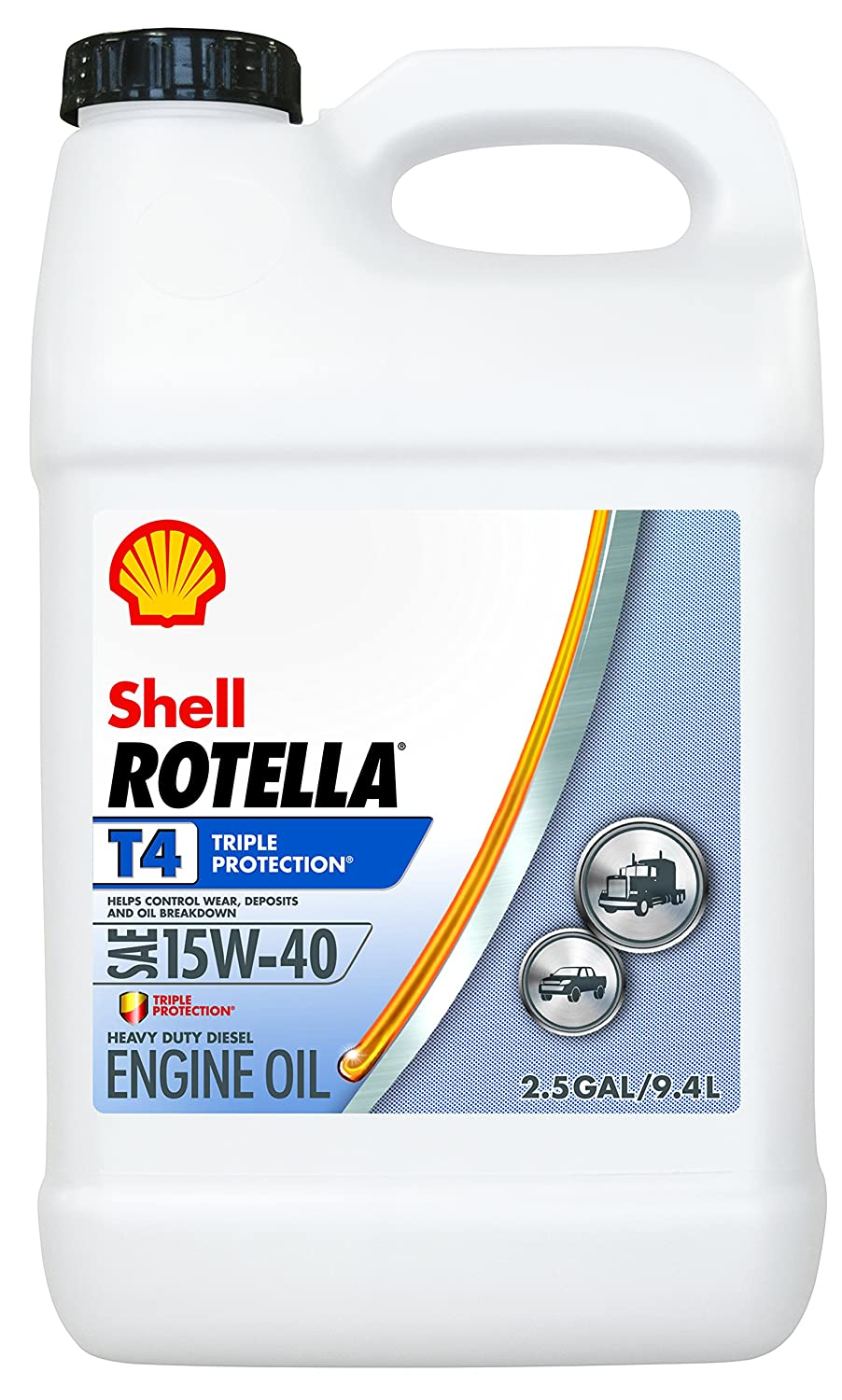 shell rotella t 15w 40 heavy duty diesel oil 2 5 gal. Black Bedroom Furniture Sets. Home Design Ideas