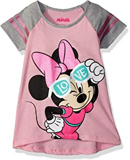 1be615f36 Amazon.com: Disney Girls' Minnie Mouse T-Shirt: Clothing