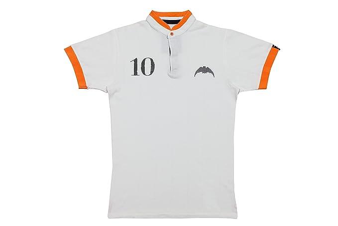 Coolligan - Polo de Fútbol Retro 1919 Chés - Color - Blanco - Talla - 3XL