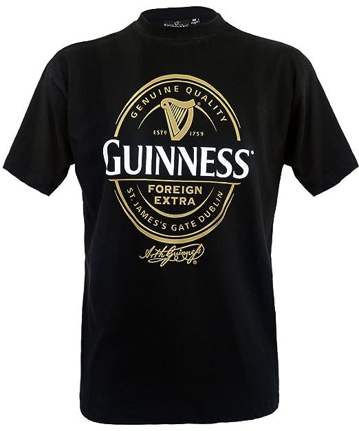 Guinness Official Merchandise Camiseta con estampado con cuello redondo de manga corta para hombre: Amazon.es: Ropa y accesorios
