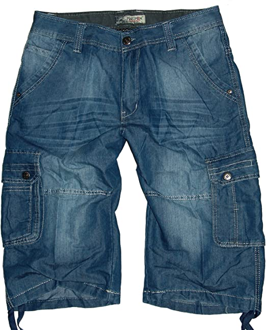 Timezone Herren Cargo Shorts Damiro TZ 3358 Dull Blue wash