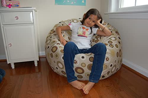 Ahh Products Bubbly Cocoa Cotton Washable Large Bean Bag Chair