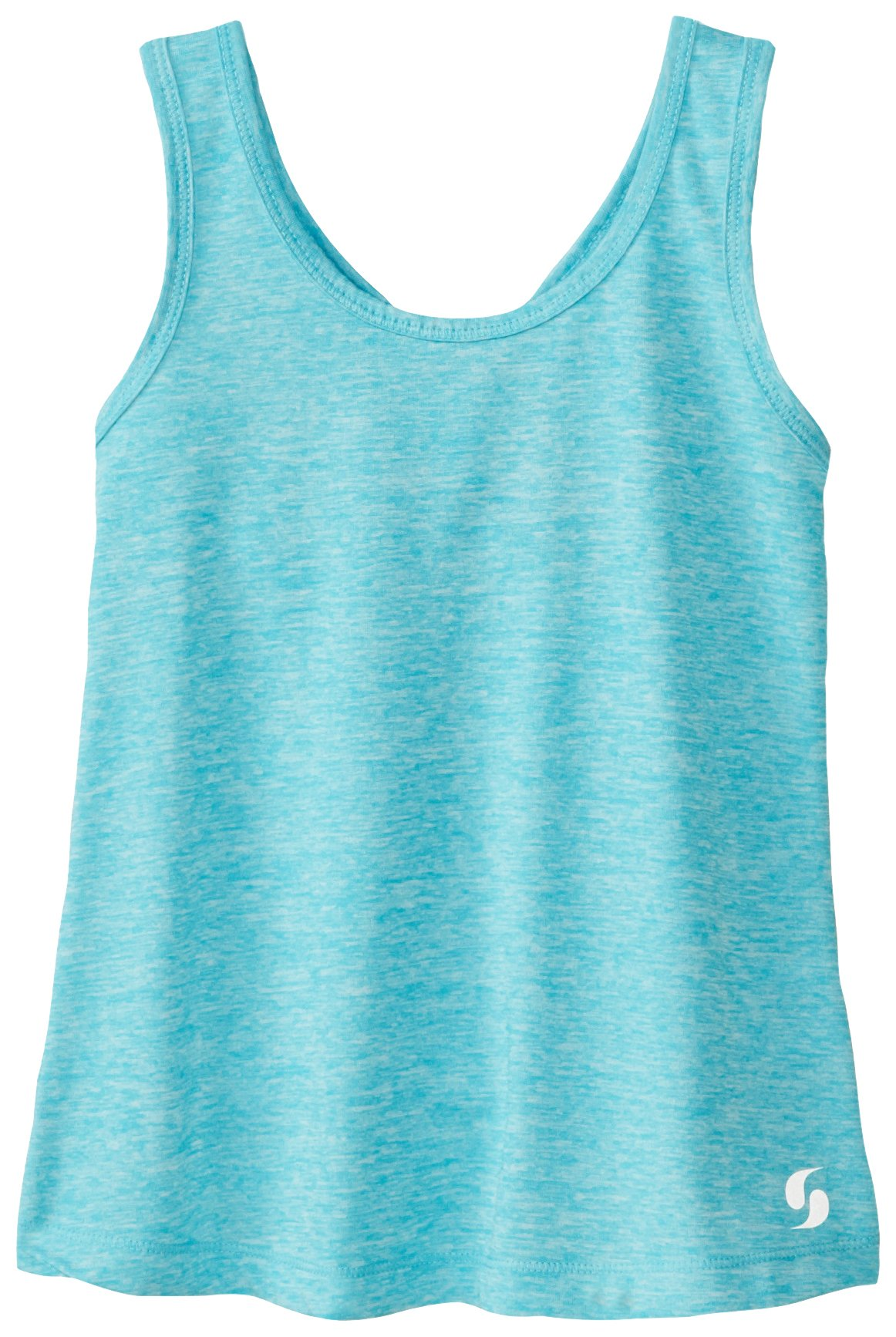 Soffe Big Girls' Knotted Racerback Tank, Scuba Blue, Medium by Soffe