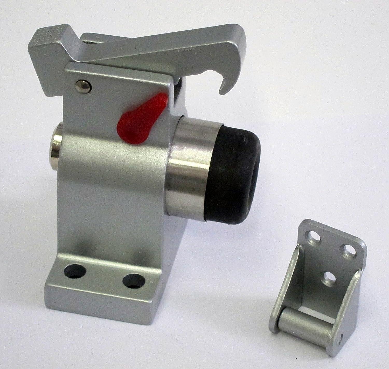 Tope de puerta TS-83030, aluminio macizo, montaje en el suelo con tapón de bloqueo