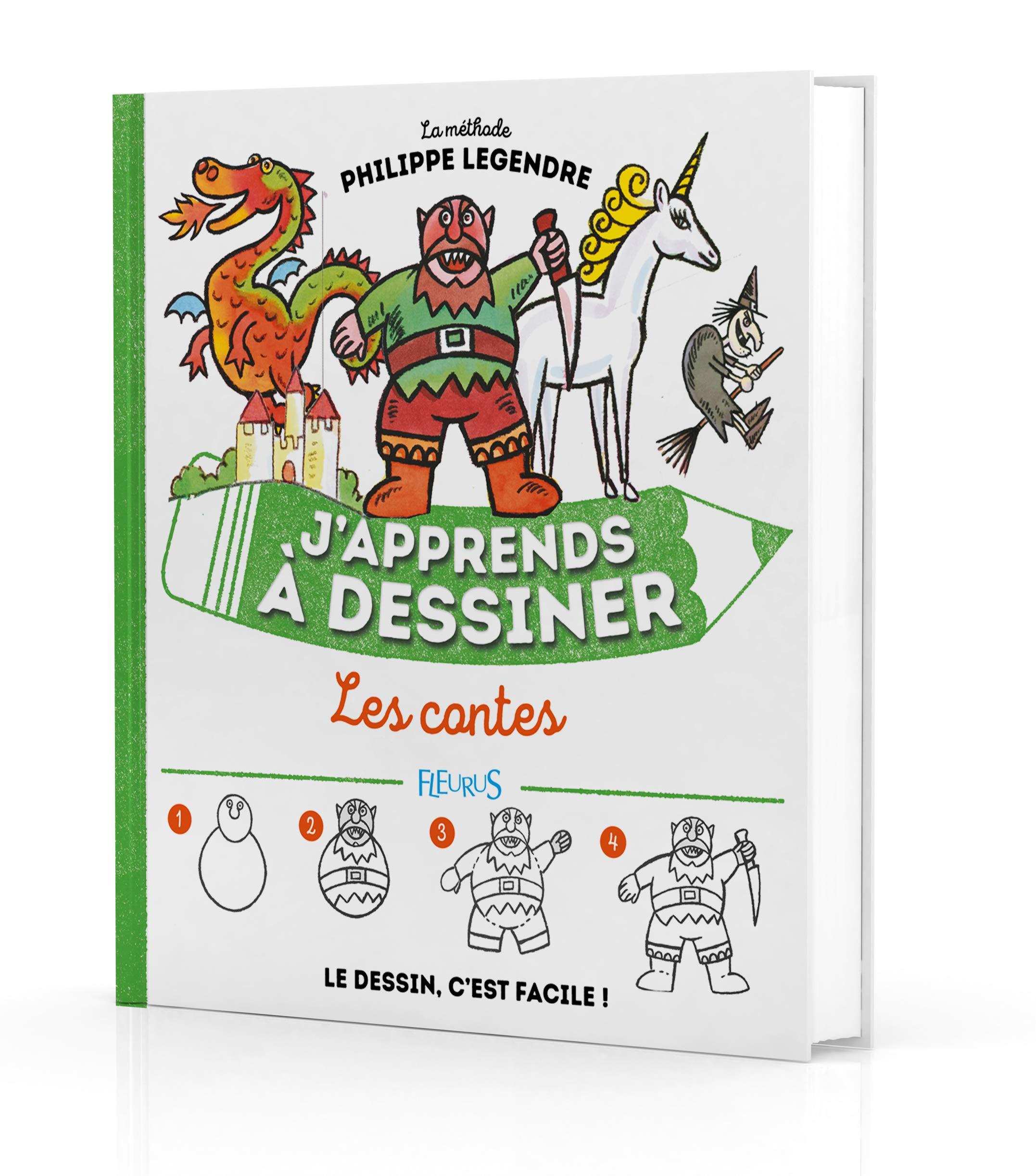 Amazon Fr J Apprends A Dessiner Les Contes Legendre Philippe