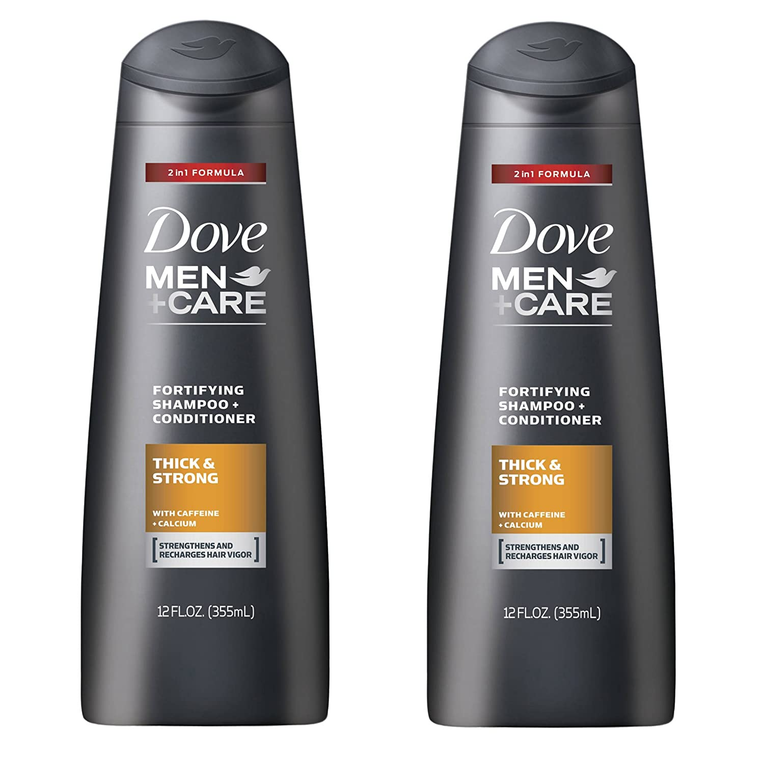 Dove Men+Care Thick and Strong Fortifying 2in1 Shampoo and Conditioner 12 FL OZ - Pack of 2