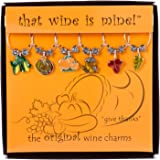 Give Thanks Wine Charms Set of 6, Painted