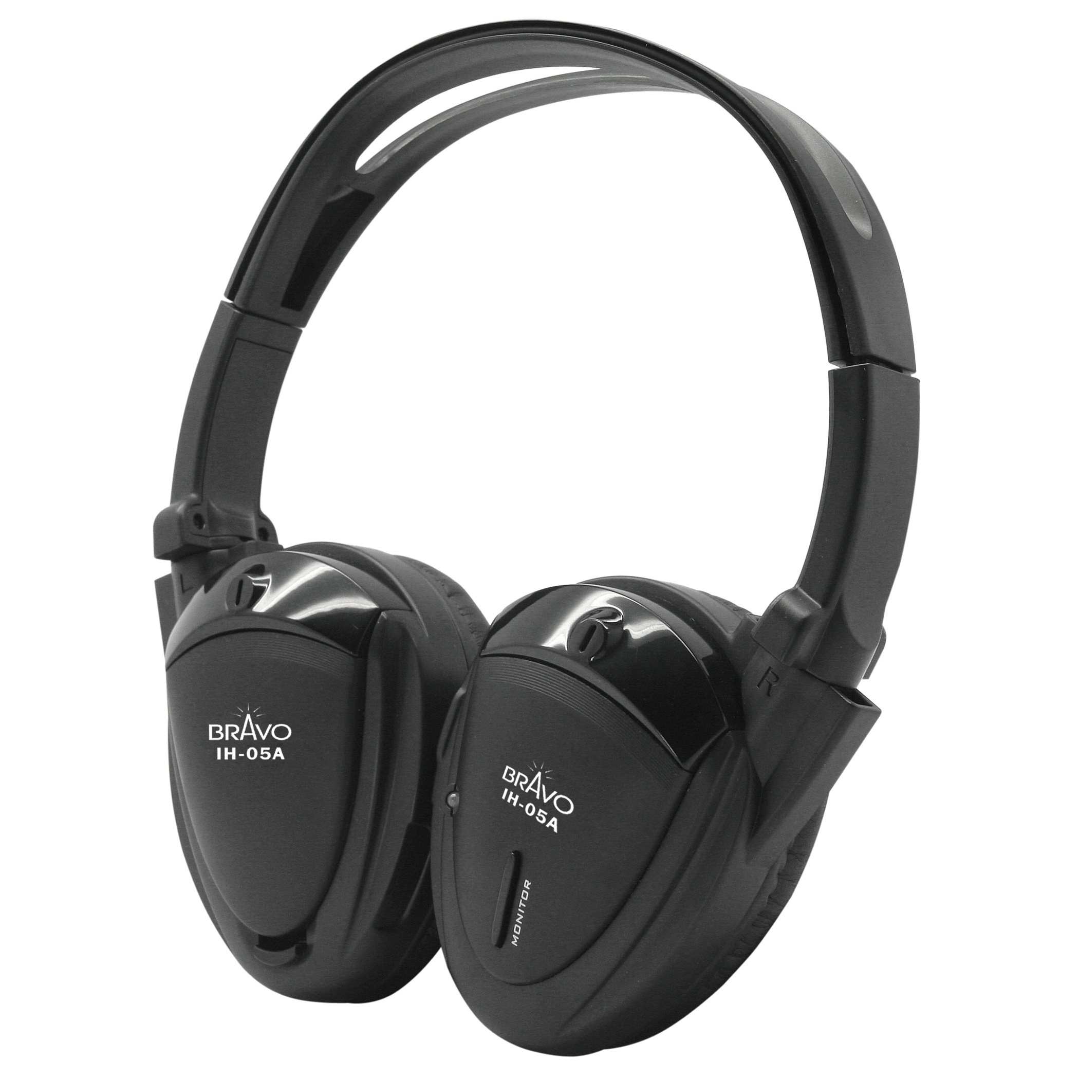 Bravo View IH-05A - Single-Source Automotive IR Wireless Headphones