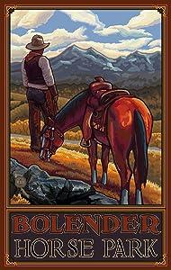 Northwest Art Mall Bolender Horse Park Cowboy on Range Unframed Poster Print by Paul A. Lanquist, 11-Inch by 17-Inch