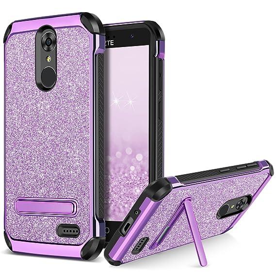 the best attitude 892b2 1d68b BENTOBEN Phone Case for ZTE Grand X4 / ZTE Blade Spark/ZTE Grand X 4,  Sparkly Glitter Slim Hybrid Hard Cover Shockproof Protective Case for ZTE  Grand ...
