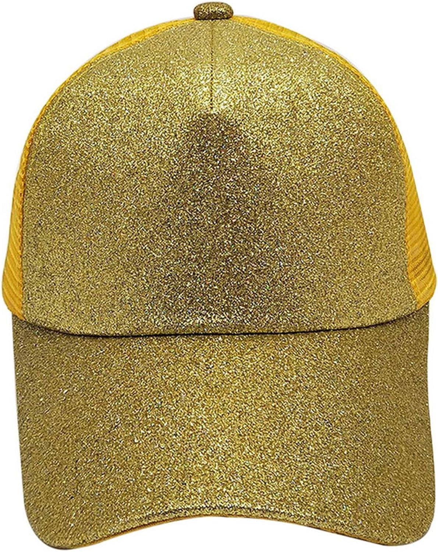 Spring and Summer Sequin Fluorescence Baseball Cap Women Men Fashion Hip Hop Street Dance Hat Breathable Visor