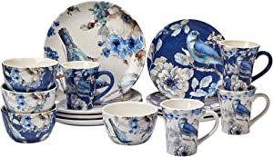 Certified International Indigold 16 pc. Dinnerware Set, Service for 4, Multicolored