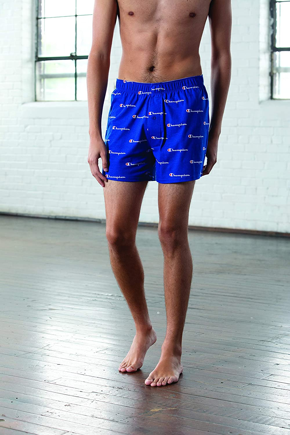 Champion LIFE Mens C Script Knit Boxer