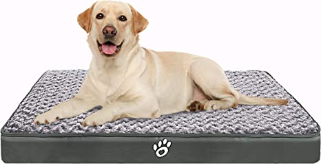 Amazon Com Cloudzone Orthopedic Dog Bed Pet Bed Mattress With Removable Zipper Covers Washable Dog Bed For Small Medium Large Dogs Xl Xxl Xxl Dog Crate Bed With Lining And Non Slip Bottom Xxl Kitchen Dining