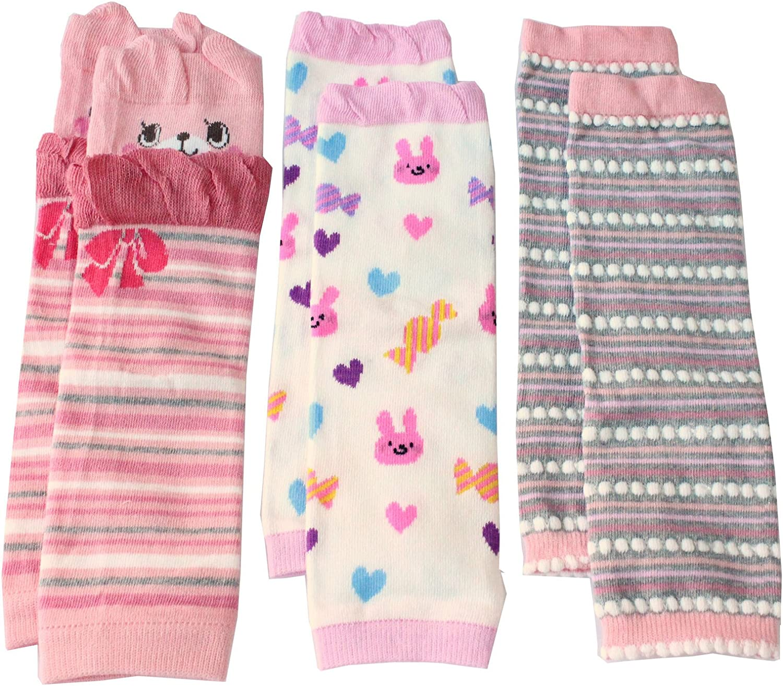 M/ädchen 3 St/ück Pink//Rot Beinstulpen f/ür Baby Kleinkind
