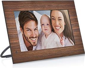 NIX Lux 13.3 Inch Hi-Res Digital Photo & Full HD Video Frame (Non-WiFi), with Hu-Motion Sensor – Wood (X13B)