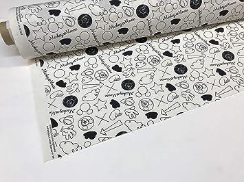 tela de disney por metros mickey blanco y negro: Amazon.es: Hogar