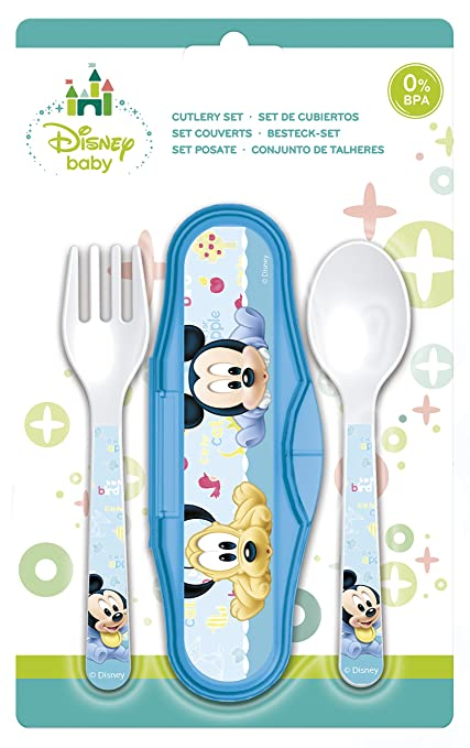 Mickey Mouse- Estuche Cubiertos microondas (STOR 39814)