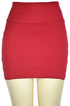 143Fashion Womens Short Skirt, Red, Small at Amazon Women's ...