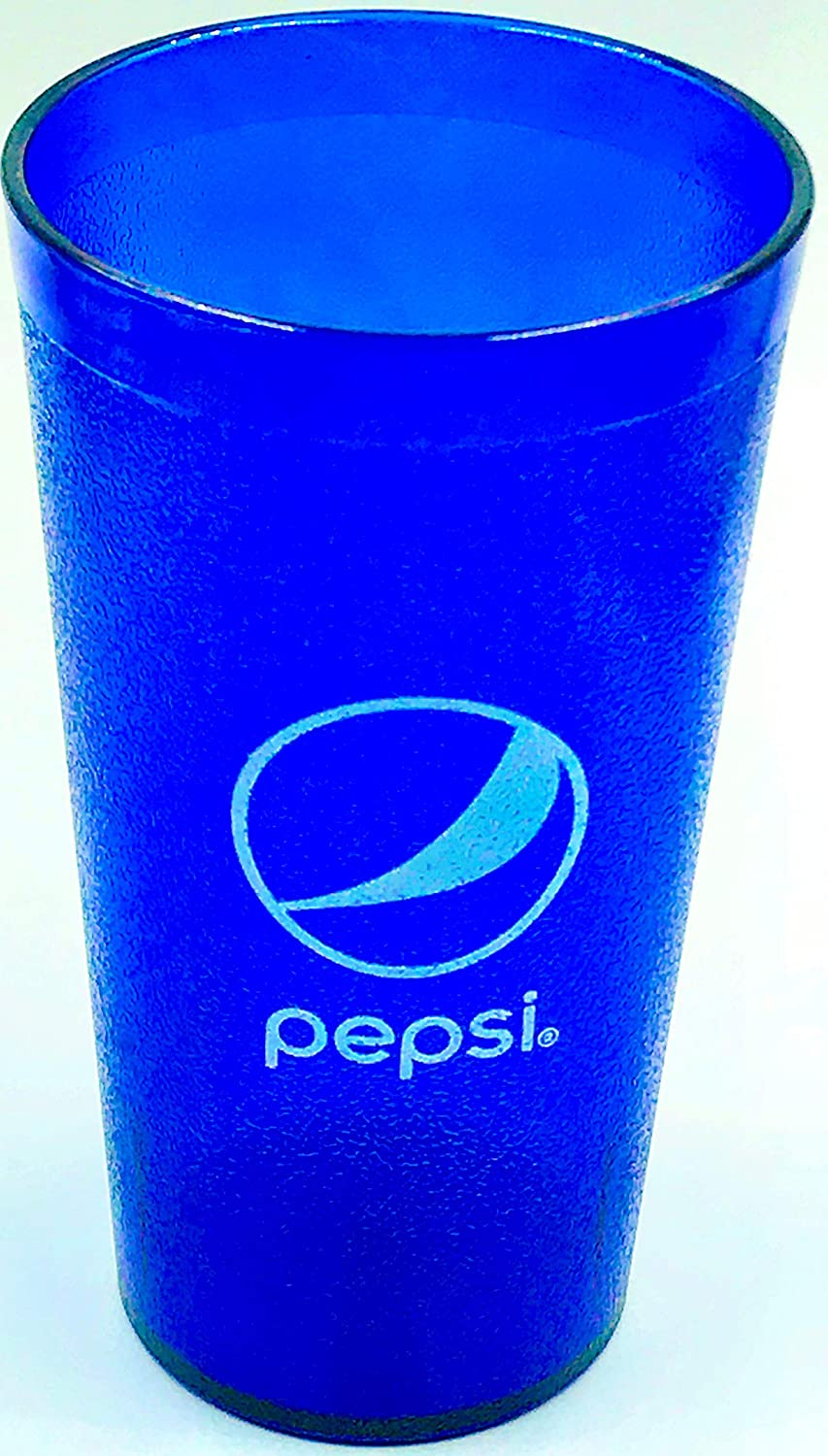 PEPSI Classic Globe Logo Royal Blue Plastic TuMblers Set of 4-16oz