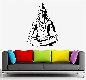 9a7e064ab95 Buy Asmi Collections PVC Wall Stickers Meditating God Buddha Online ...