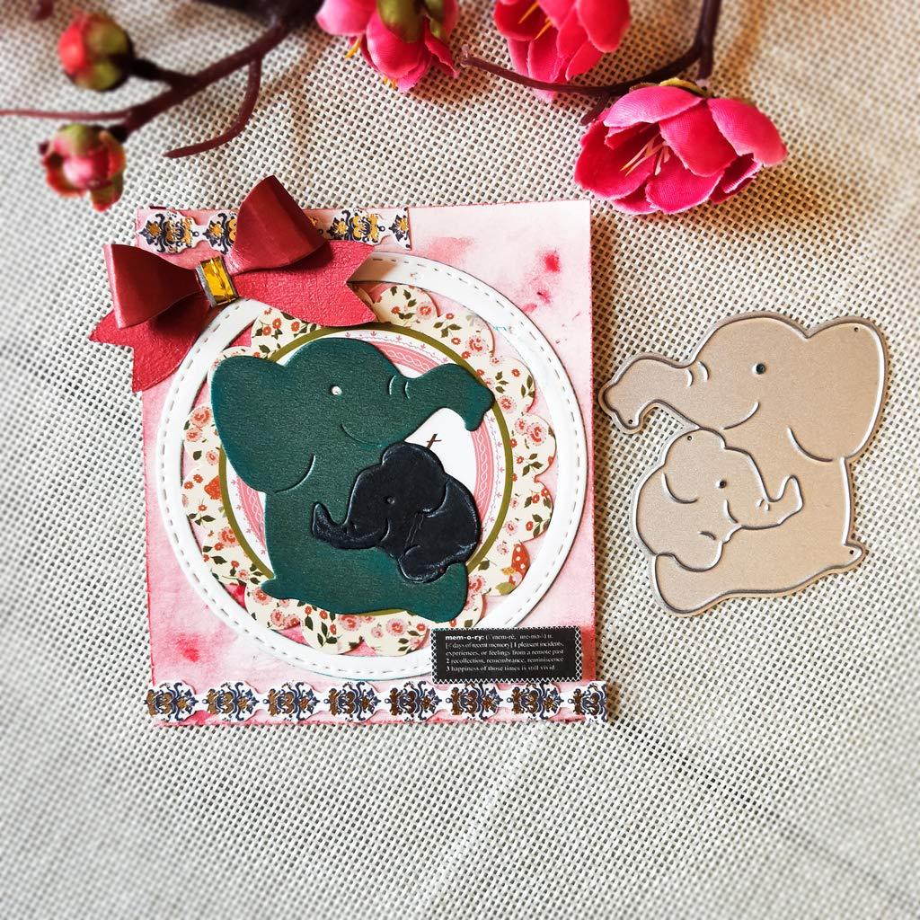 1 Set Hoxin Elefant Mami und Baby DIY Stanzformen Schablone F/ür Scrapbooking Pr/äge Album Papier Karte Handwerk Handgemachtes Geschenk