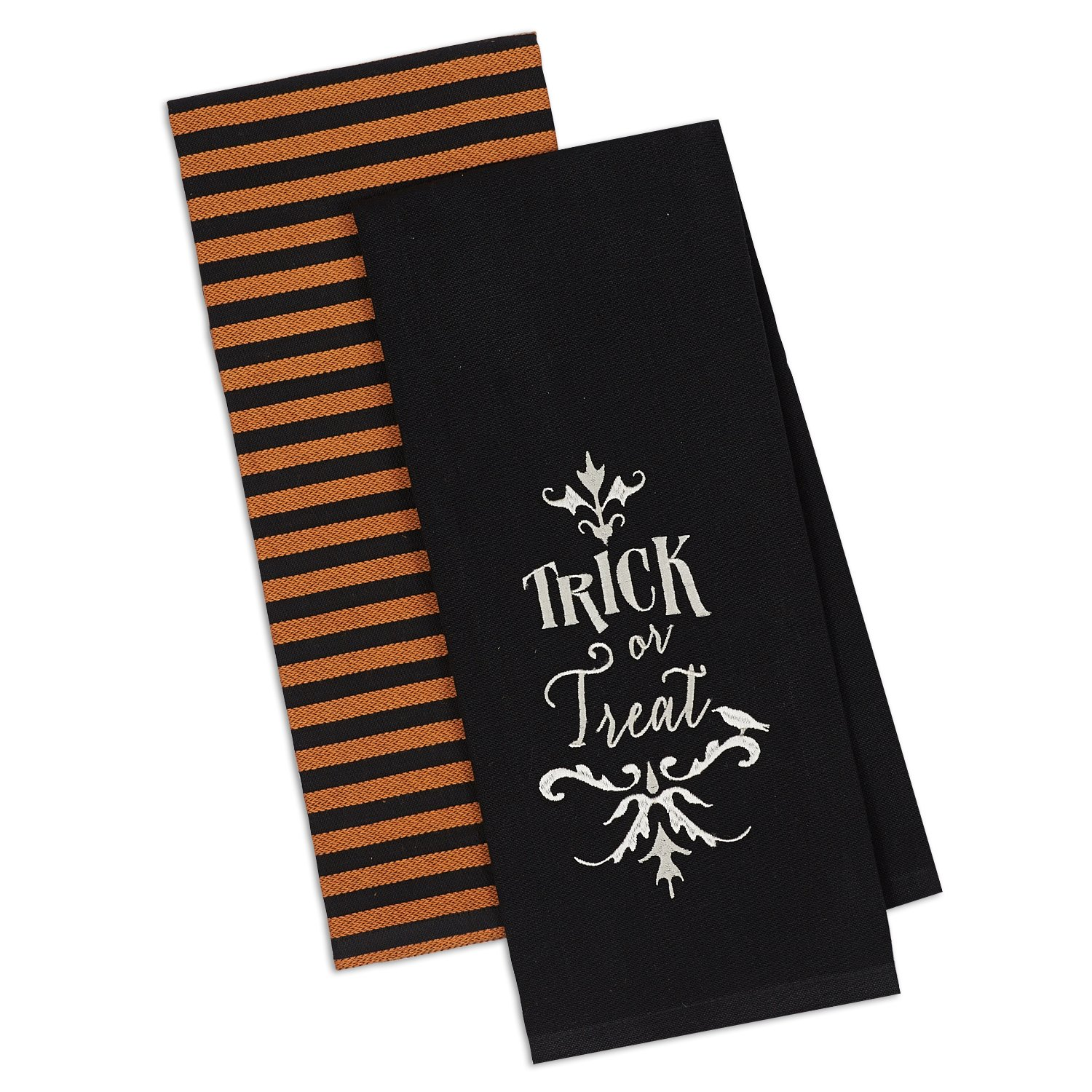 DII Cotton Halloween Holiday Dish Towels, 18x28'' Set of 2, Decorative Oversized Kitchen Towels, Perfect Home and Kitchen Gift-Trick or Treat