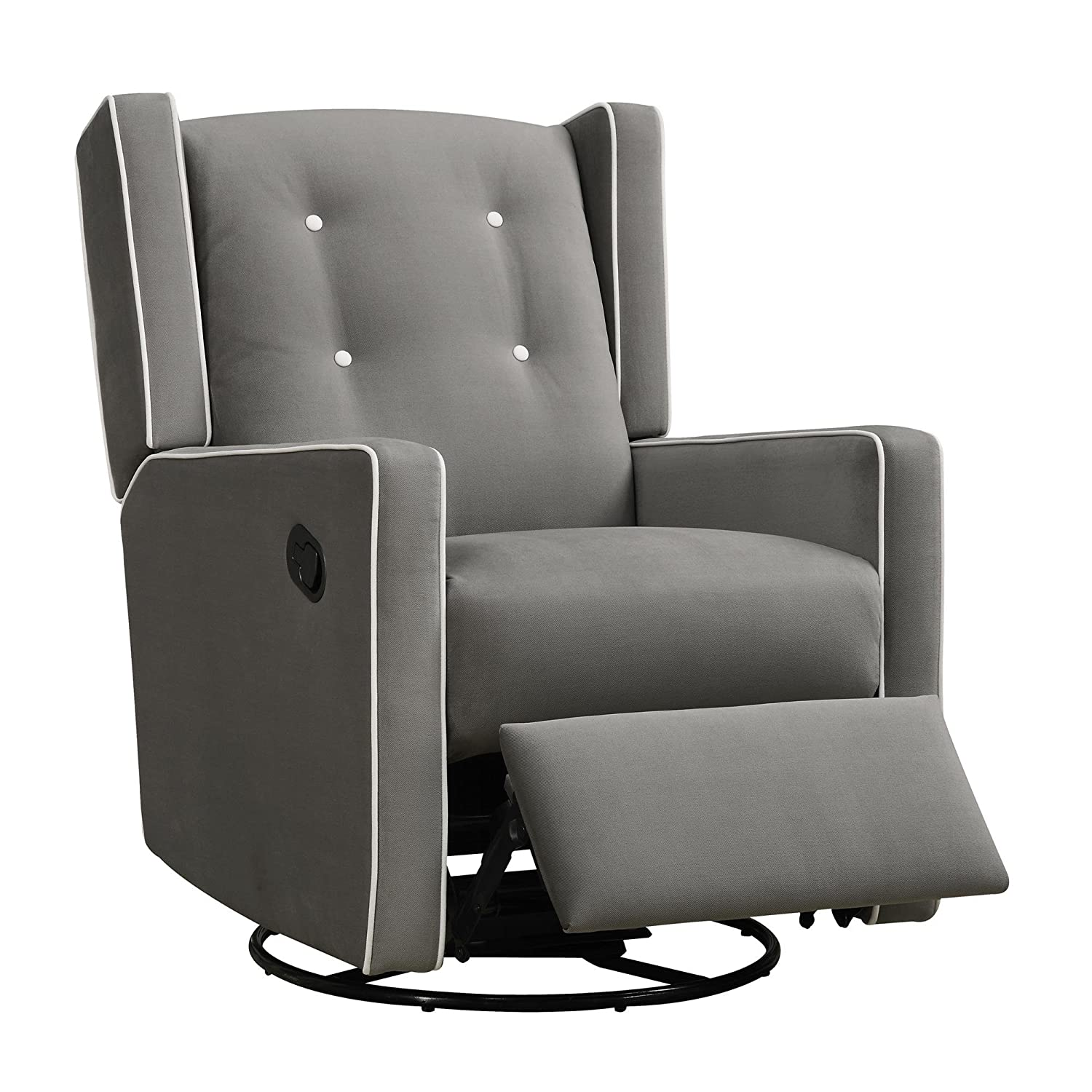 Amazon.com Baby Relax Mikayla Swivel Gliding Recliner Gray Microfiber Baby  sc 1 st  Amazon.com : infant recliners - islam-shia.org
