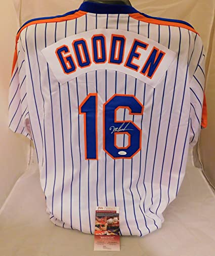buy online 31c62 b66ff Dwight Doc Gooden SIGNED/AUTOGRAPHED New York Mets Jersey ...