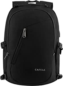 Laptop Backpack,Travel Computer Bag for Women & Men,Anti Theft Water Resistant College School Bookbag,Slim Business Backpack w/USB Charging Port Fits up to15.6 Inch Laptop Notebook,Black