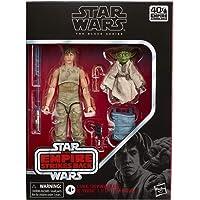 Star Wars The Black Series - Figuras de Luke Skywalker y Yoda (Jedi Training) a escala de 15 cm - Star Wars: El Imperio contraataca - Figura del 40.º aniversario