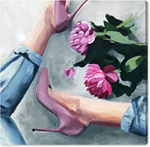 Wynwood Studio Fashion and Glam Wall Art Canvas Prints 'Jeans and Heels' Home Décor, 20