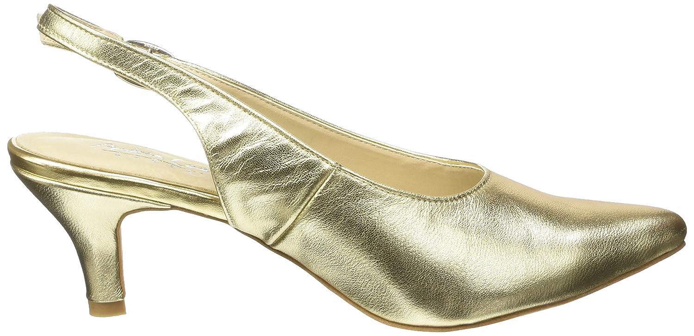 Andrea Conti 1009375, Damen Slingback Pumps, Gold (Gold 095), 37 EU