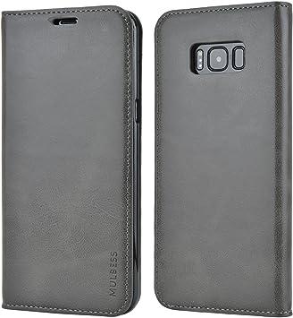 Mulbess Funda Samsung Galaxy S8 Plus [Libro Caso Cubierta] Slim de Billetera Cuero Carcasa para Samsung Galaxy S8 Plus / S8+ Case, Gris: Amazon.es: Electrónica