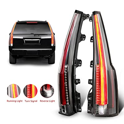 MOSTPLUS LED Tail Lights Rear lamp for Chevrolet Chevy Tahoe Suburban 2015 2016 2020 2020   Red Clear Set of 2 (Red Clear): Automotive
