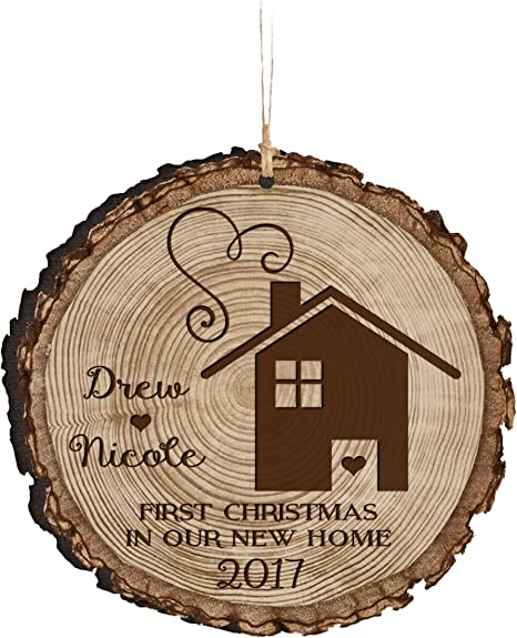 Our First Home Personalized Christmas Ornament Keepsake Gift New Home Ornament For Couple Housewarming Gift. Custom First Home Gift
