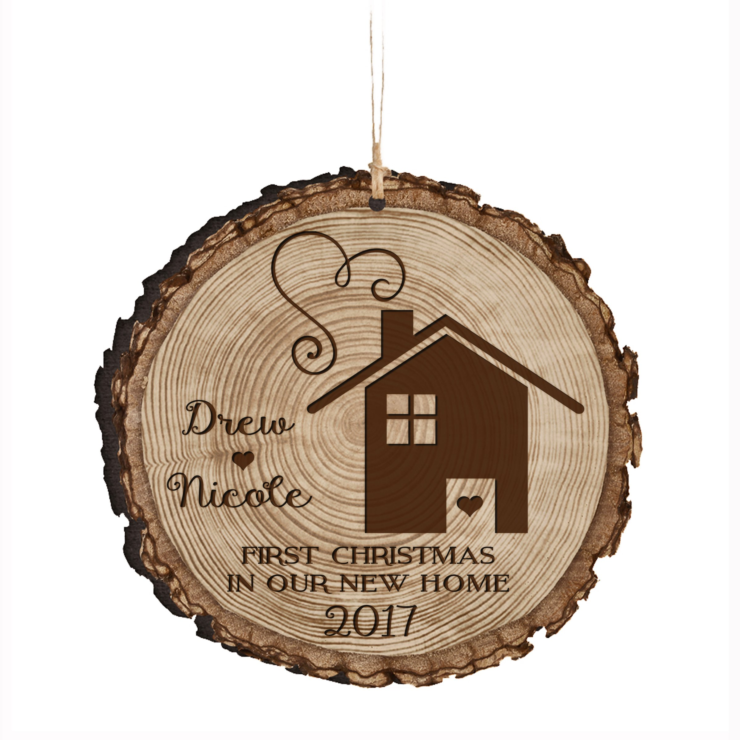 LifeSong Milestones Personalized Our First New Home Christmas Holiday Gift Ornament Custom Housewarming gift ideas for couple him her by (First Christmas in our Home)