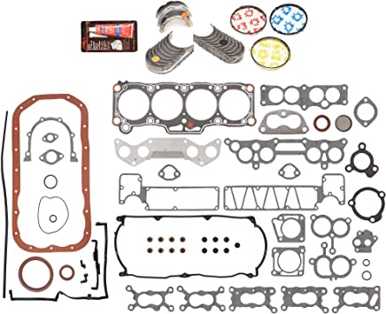 Domestic Gaskets Engine Rering Kit FSBRR6003EVE\0\0\0 Fits 87-93 Mazda B2200 2.2 8V F2L F2G Full Gasket Set Standard Size Piston Rings Standard Size Main Rod Bearings