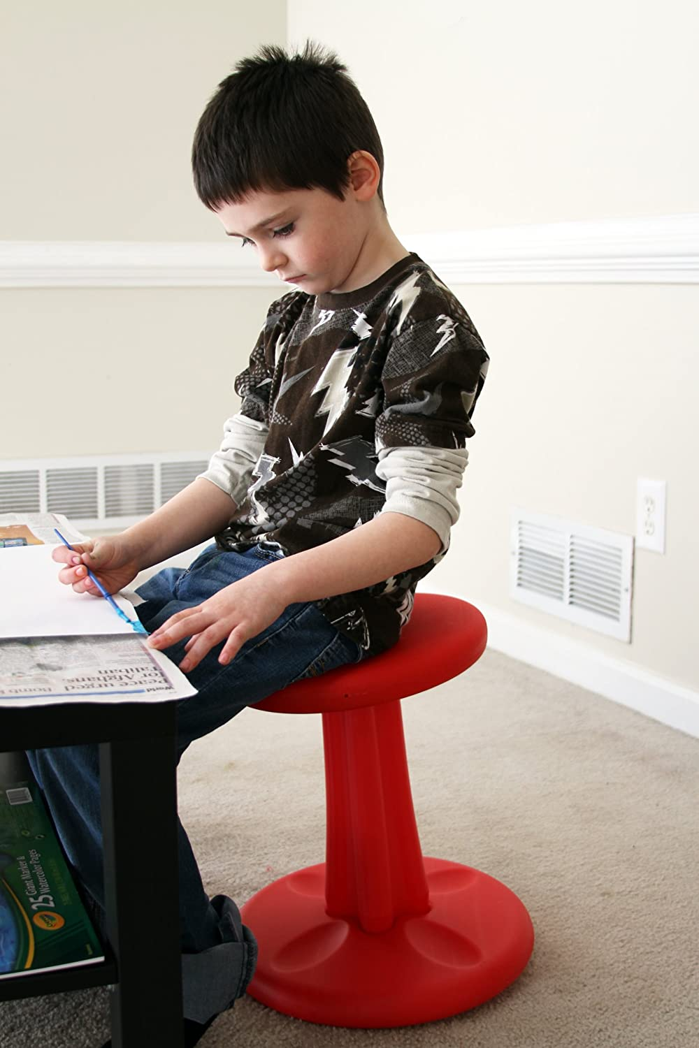 "Kore Patented WOBBLE Chair, Made in the USA, Active Sitting for Toddler, Pre-School, Kids, and Teens; Kids don't have to sit still anymore - ""The BEST seat in any Classroom""!"