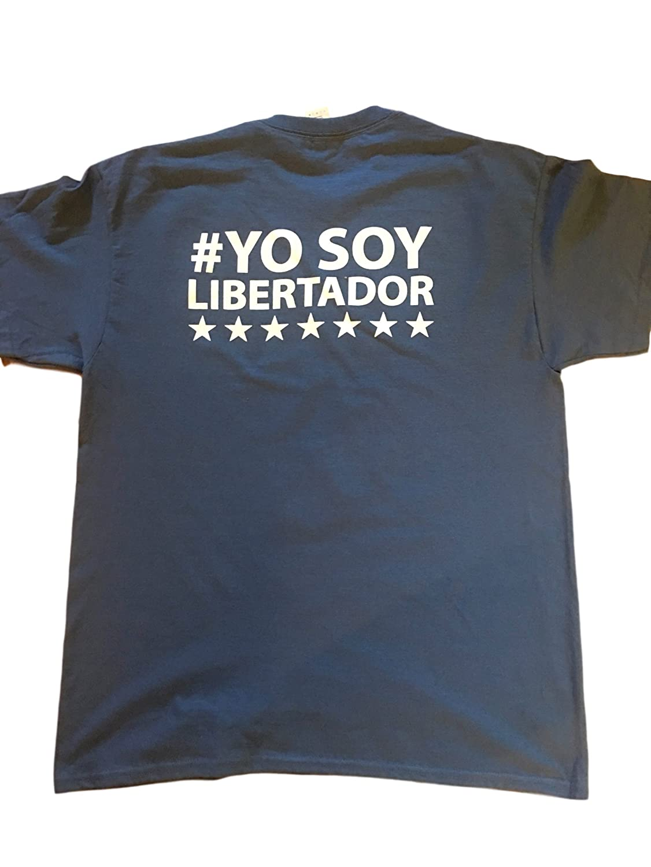 Amazon.com  2019 Juan Guaido Venezuela  YOSOYLIBERTADOR Campaign T-Shirt  Blue Adult Short Sleeve. Venezuela Guaido  Clothing 7e3ef6b0fbb3