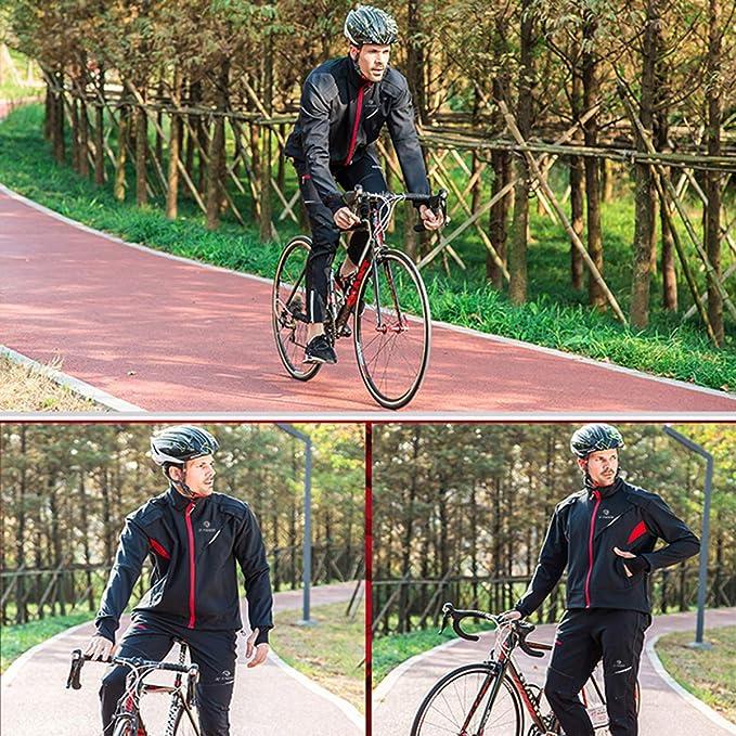 X-TIGER Ciclismo Maillots Chaqueta para Hombres con Tirantes Manga ...